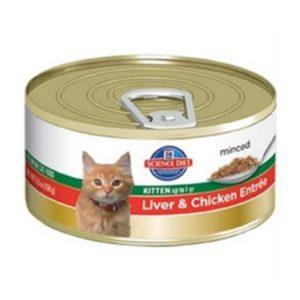 Hill's Science Diet Premium 5.5 Oz Kitten Liver & Chicken Entree Wet Cat Food,