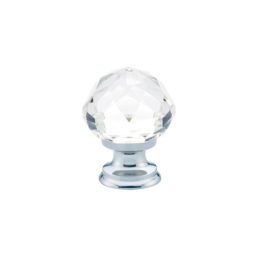 Emtek Diamond Cabinet Knob with Polished Chrome Finish Base
